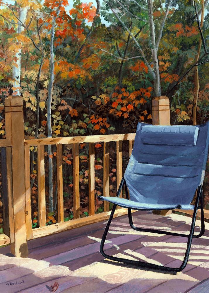 """My Favorite Spot"" original fine art by Lynne Reichhart"