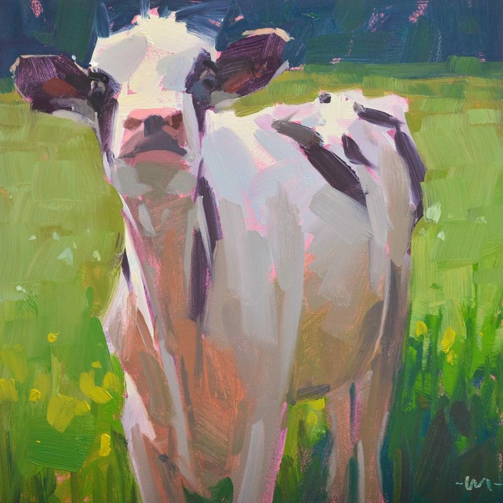 """What's Up Cow"" original fine art by Carol Marine"
