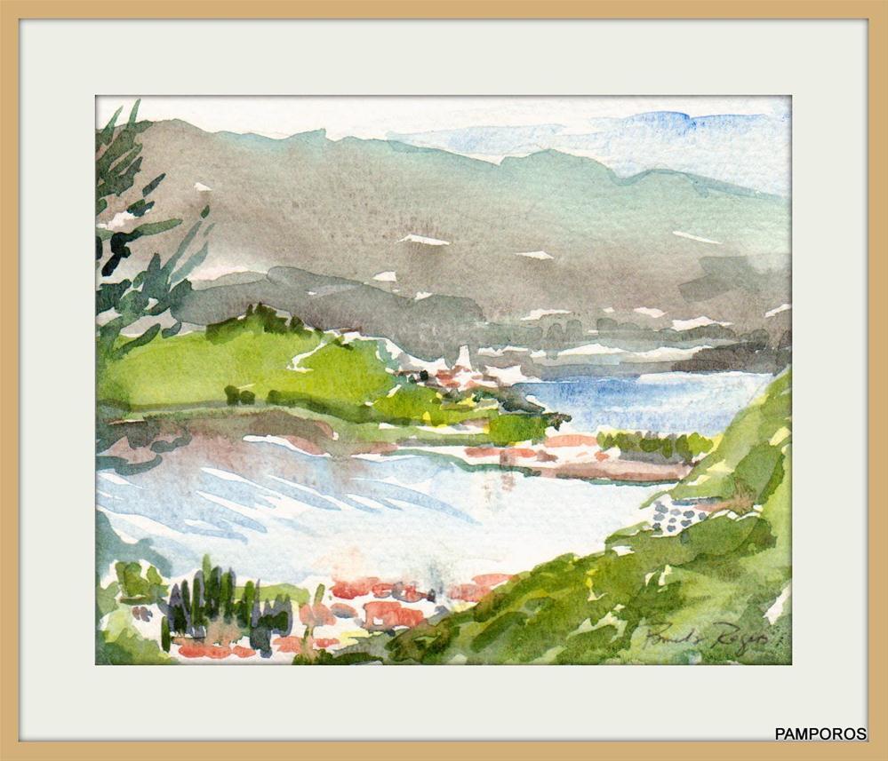"""""""Spring Afternoon-Poros"""" original fine art by Pamela Jane Rogers"""
