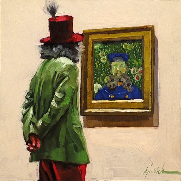 """Feather Head"" original fine art by Karin Jurick"