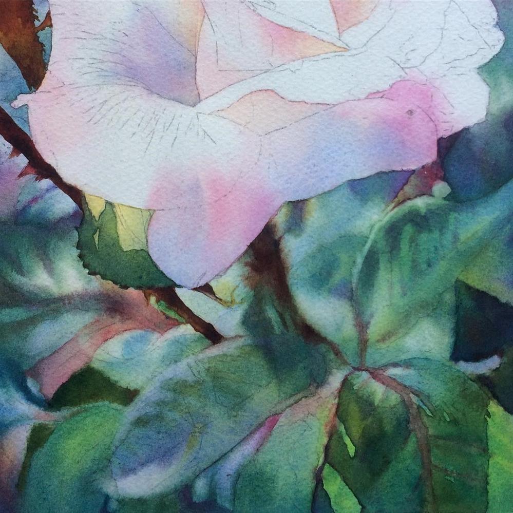 """Sea Blue, Sea Green - WIP"" original fine art by Arena Shawn"