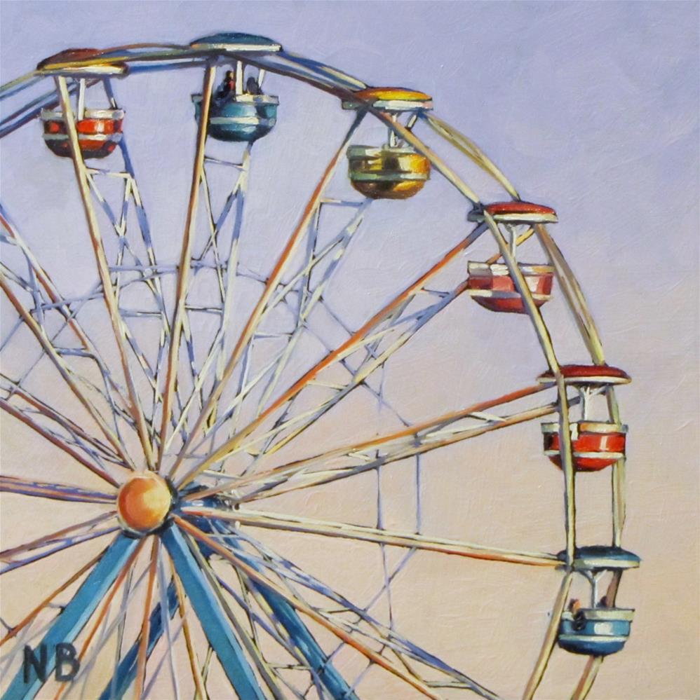 """""""Ferris Wheel"""" original fine art by Nora Bergman"""