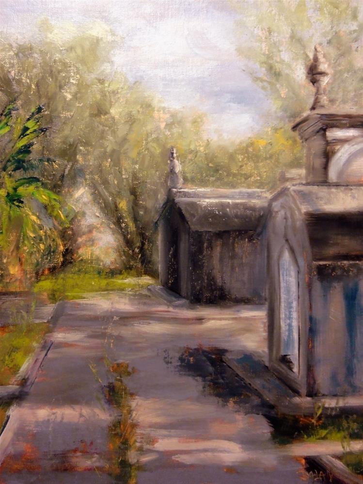 """""""A Grave Path II Old New Orleans Graves From Odd Fellows Rest Cemetery"""" original fine art by Dalan Wells"""