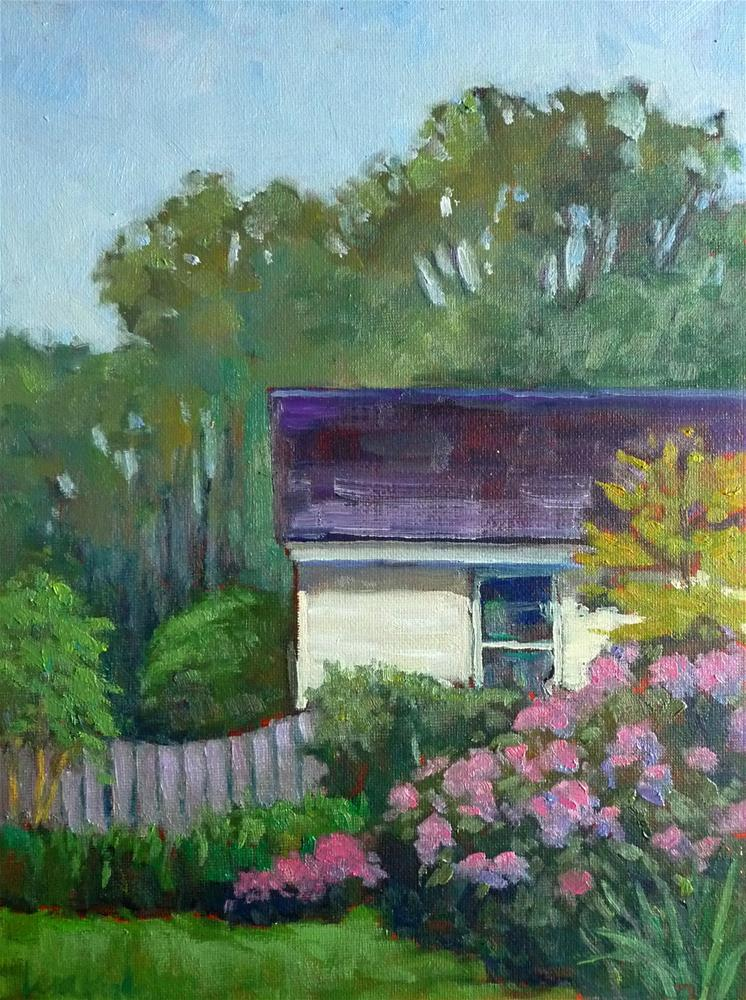 """Backyard Garden"" original fine art by Lisa Kyle"