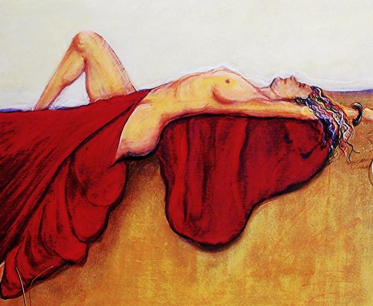 """Dreams in Redd"" original fine art by Barbara Lemley"