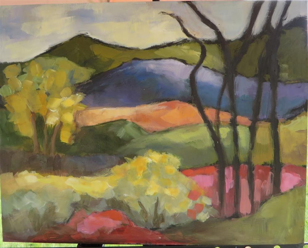 """""""696 View from The Couse-Sharp Historic Site"""" original fine art by Diane Campion"""