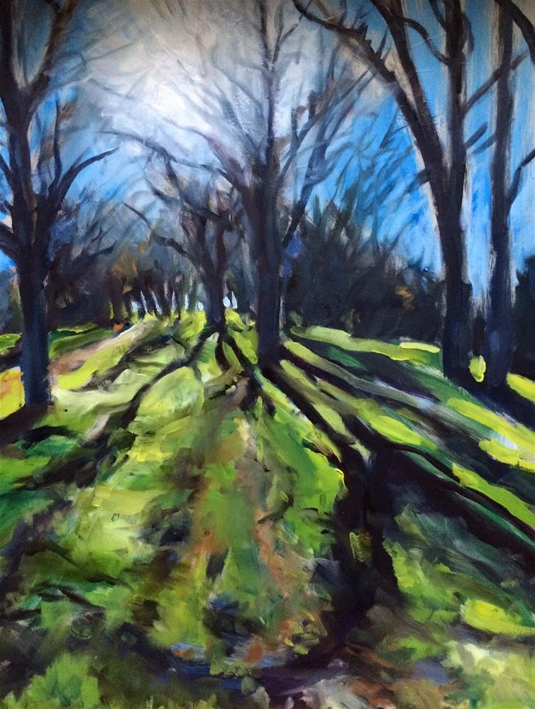 """""""Winter Light, Briones Park"""" original fine art by John Tullis"""