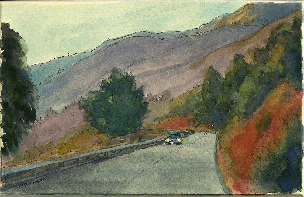 """Road Sketch 16"" original fine art by Rita Kirkman"