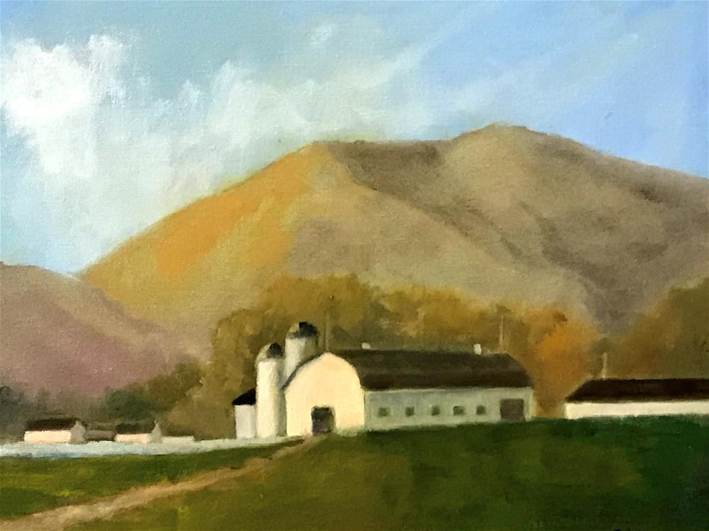 """dairy farm"" original fine art by Betty Argiros"