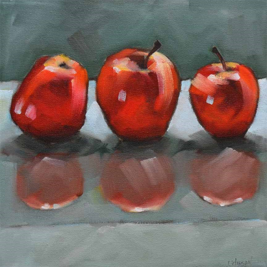 """Three Galas"" original fine art by Cheryl Wilson"