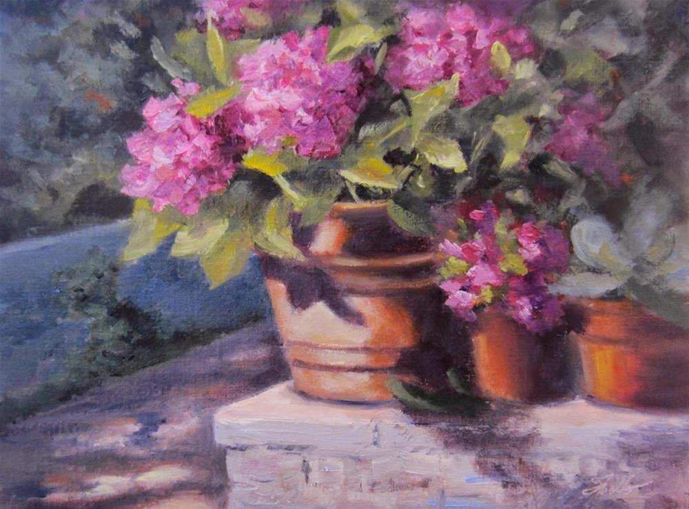 """""""Sunny Pienza"""" original fine art by Pat Fiorello"""