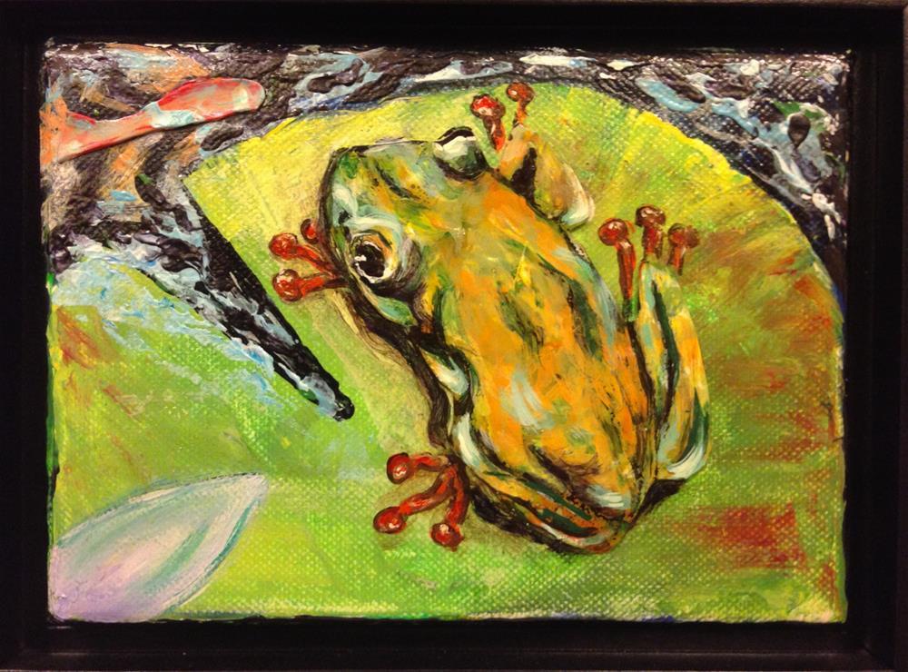 """""""Hello Goldie"""" original fine art by Debbie Yacenda"""