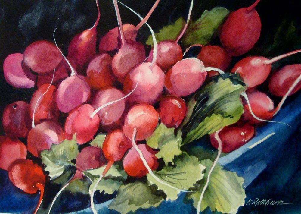 """Simply Radishing"" original fine art by Kathy Los-Rathburn"