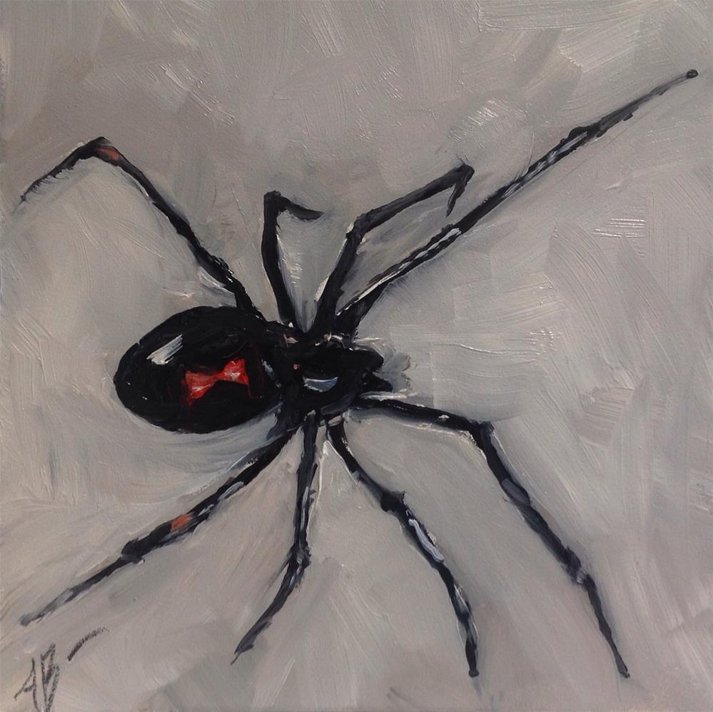 """Black Widow"" original fine art by Annette Balesteri"