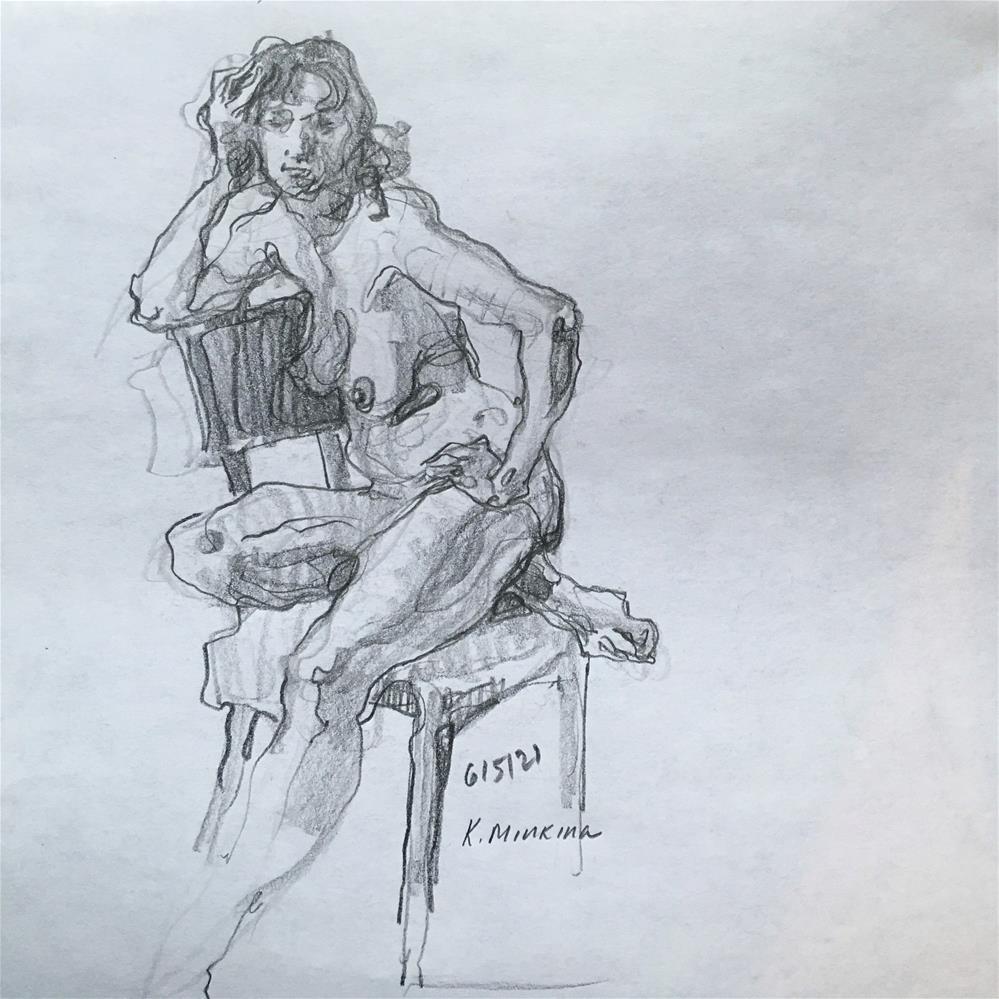 """Figure66"" original fine art by Katya Minkina"