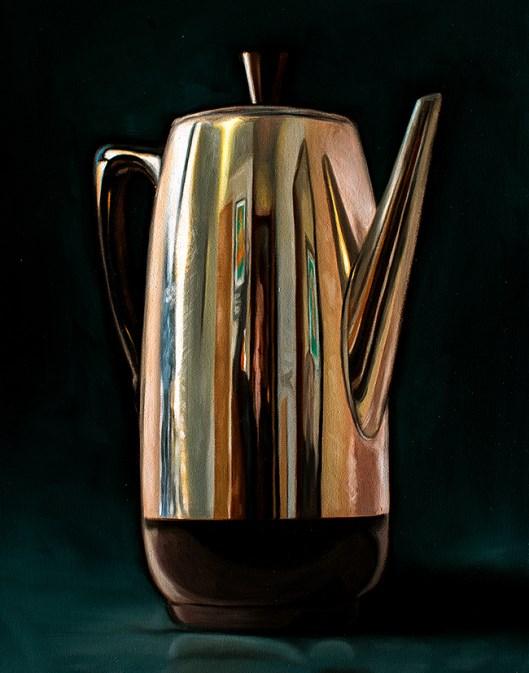 """Coffee Percolator"" original fine art by Lauren Pretorius"