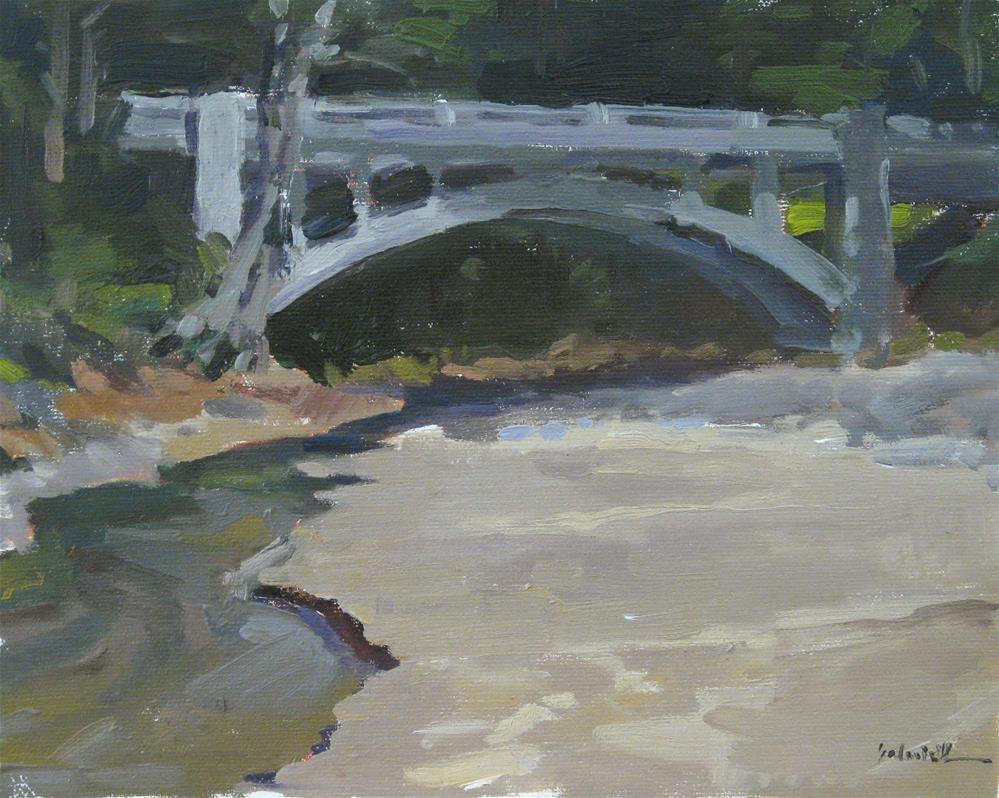"""Cummins Creek Bridge"" original fine art by Sarah Sedwick"