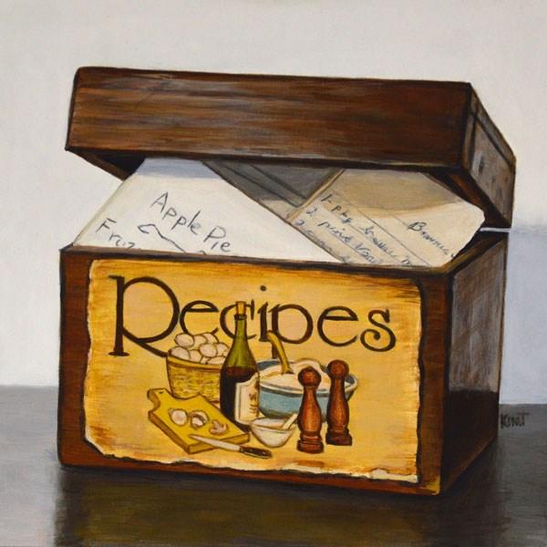 """""""The Old Recipe Box"""" original fine art by Kim Testone"""