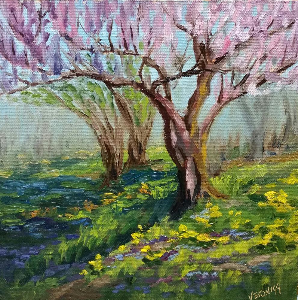 """Spring-plein air"" original fine art by Veronica Brown"