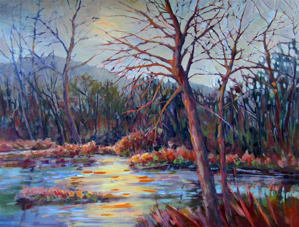 """Mood of the Marsh"" original fine art by Melissa Gannon"