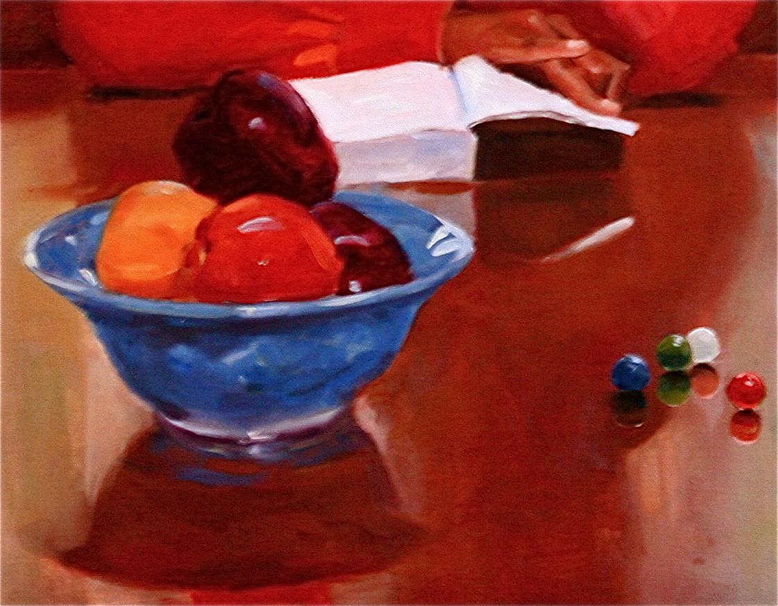 """The Study"" original fine art by C J Roughton"