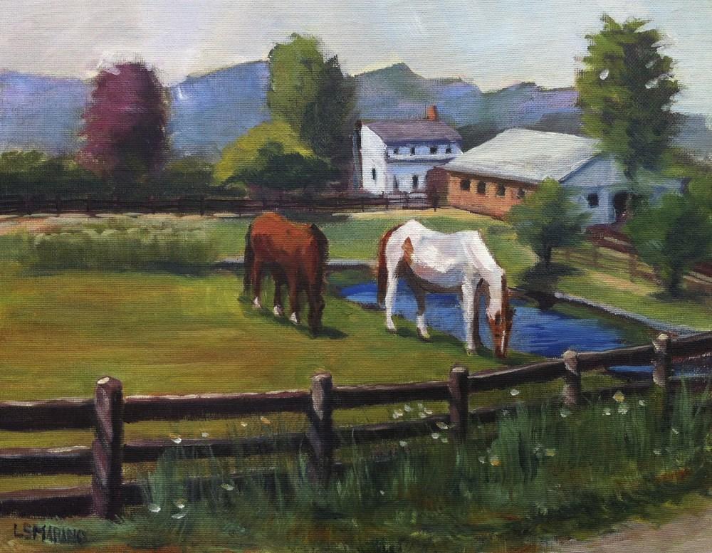 """Grazing Together"" original fine art by Linda Marino"