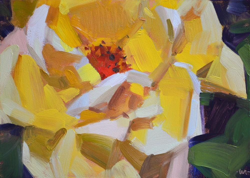 """Dog Eared Rose"" original fine art by Carol Marine"
