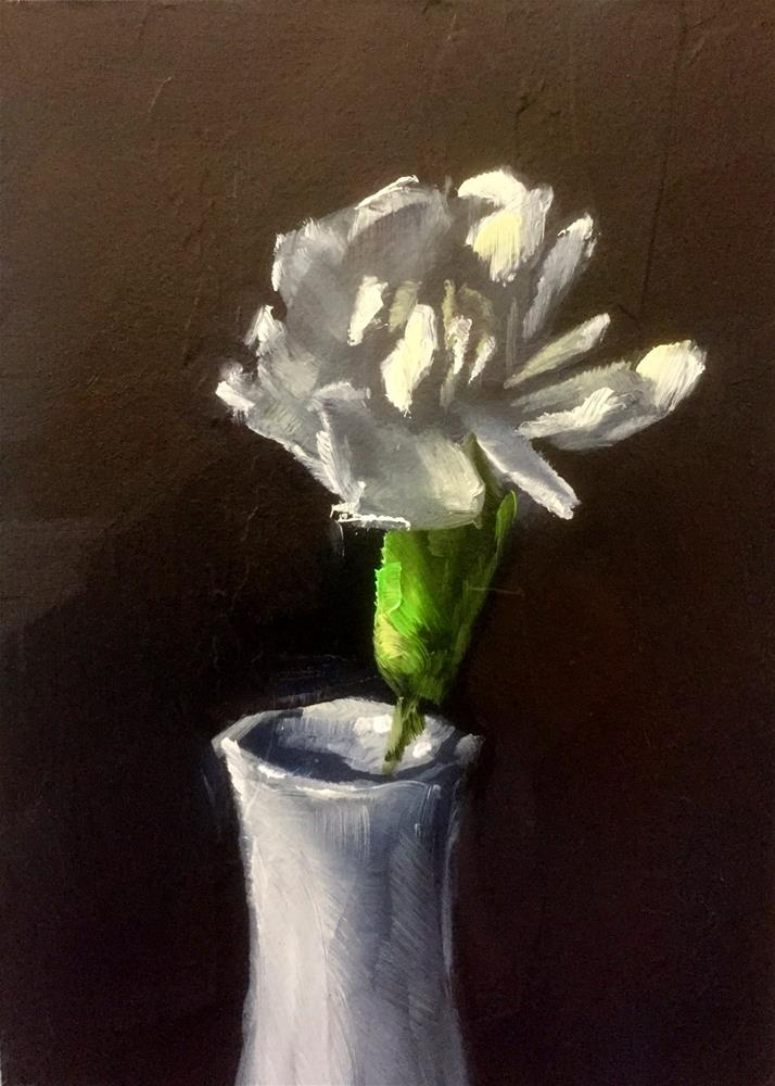 """Single Carnation"" original fine art by Gary Bruton"
