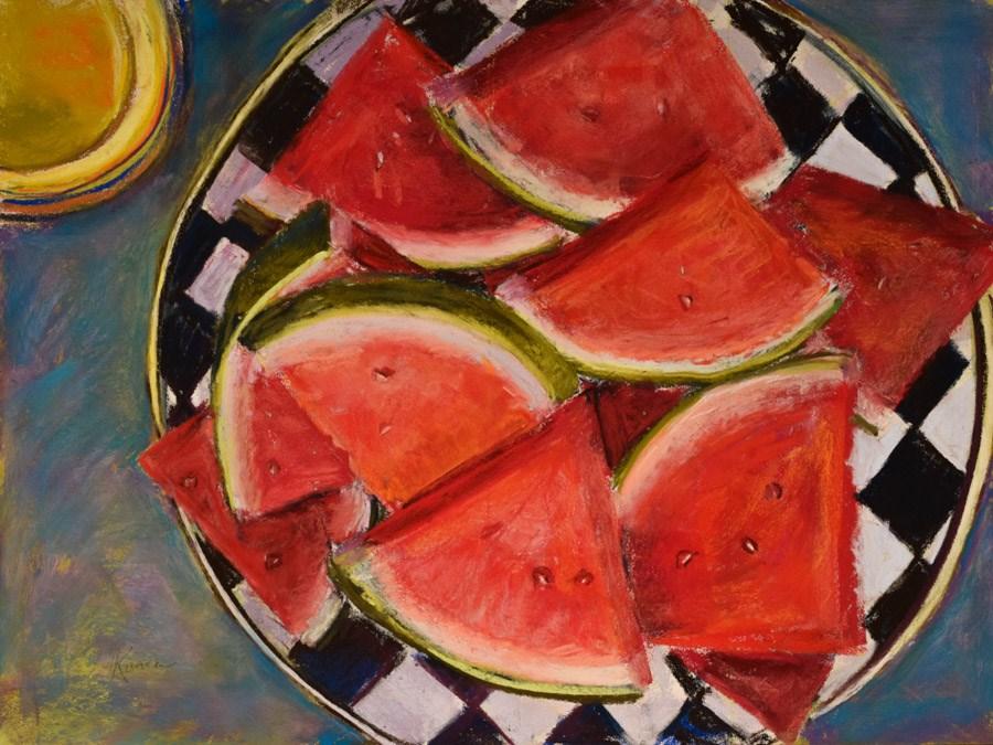"""Dessert With Rose"" original fine art by karen israel"