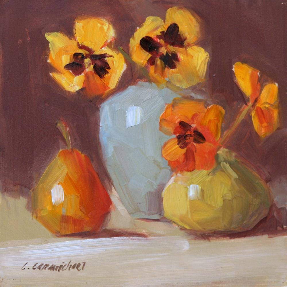 """color cluster"" original fine art by Carol Carmichael"