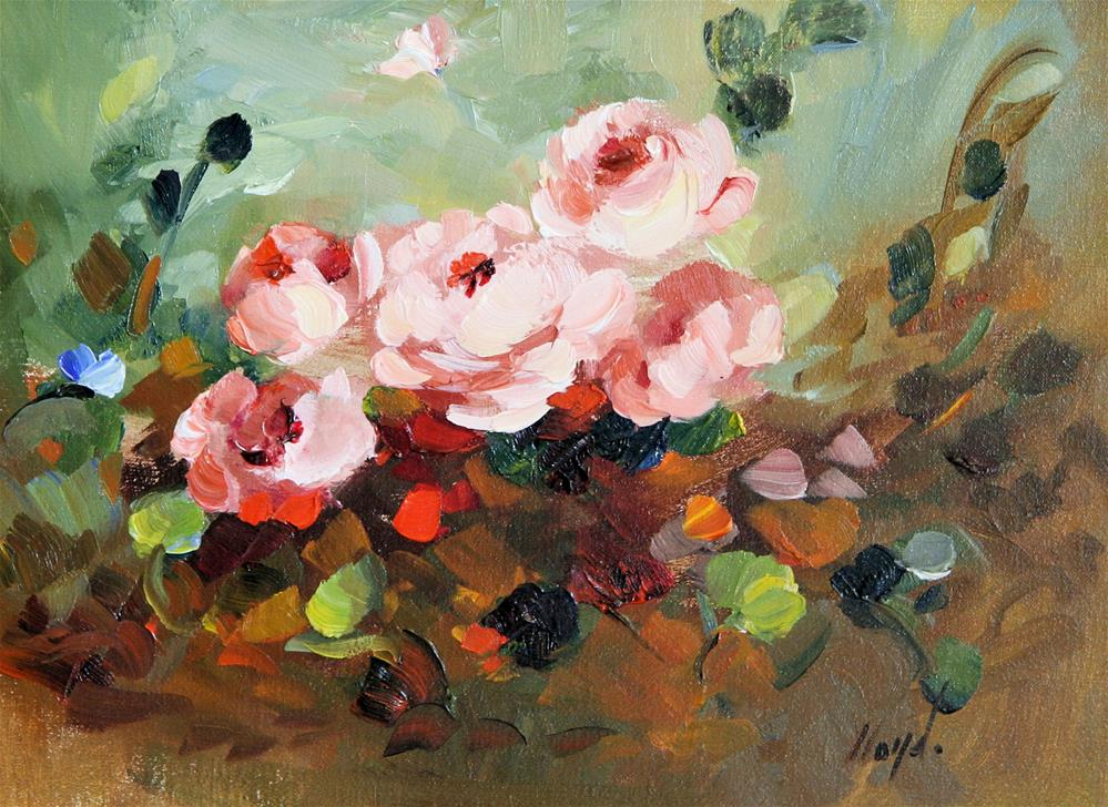 """Again, Roses"" original fine art by Diane Lloyd"