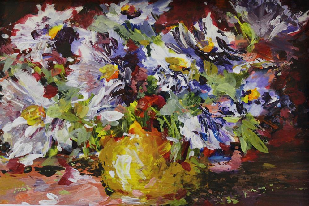 """daisy bouquet floral flower still life painting"" original fine art by Alice Harpel"