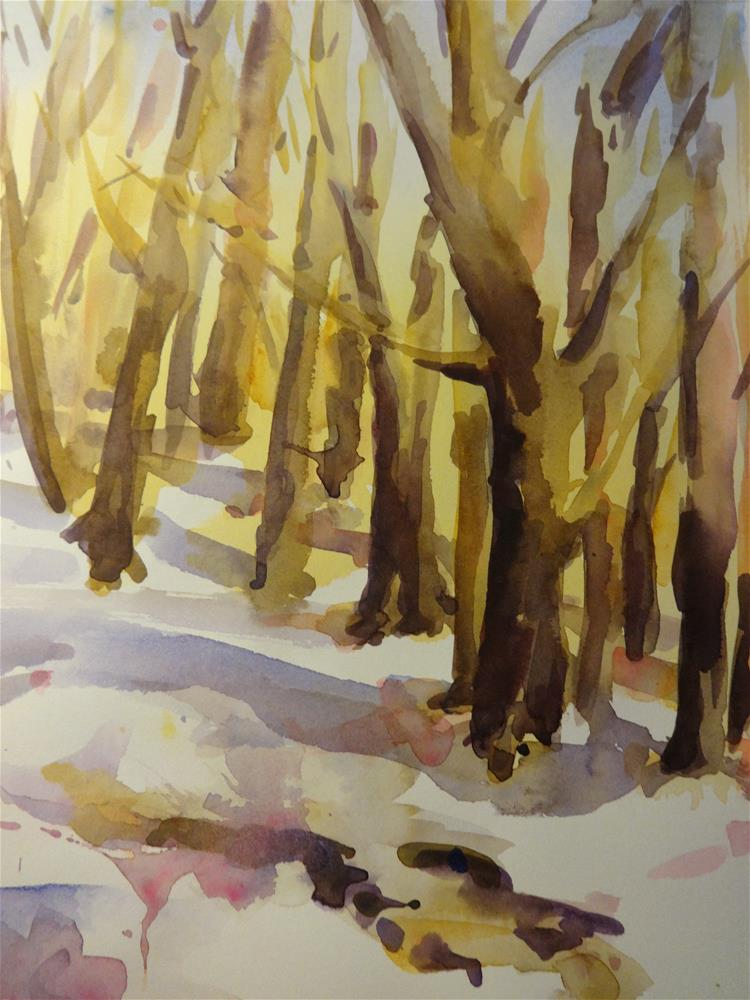 """Cold Woods"" original fine art by angela scully"