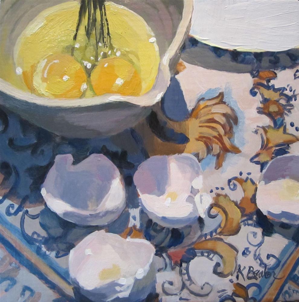 """""""Breakfast Prep"""" original fine art by Kaethe Bealer"""