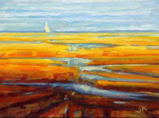 """Sail on the Marsh"" original fine art by J Kelsey"