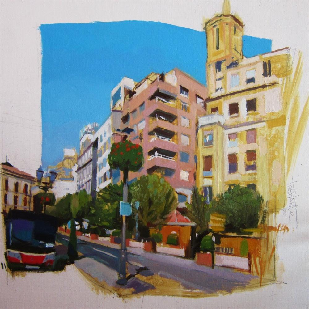 """Puerta real"" original fine art by Víctor Tristante"
