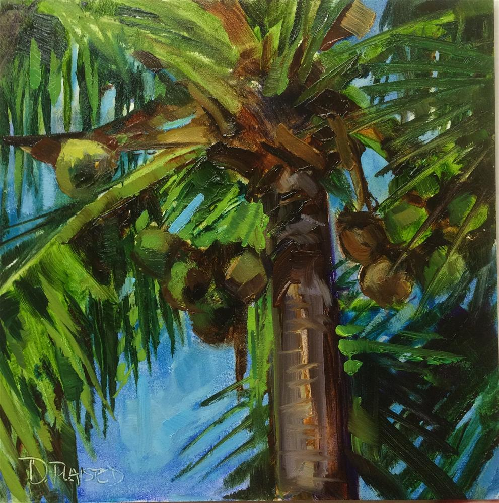 """""""Fort Myers Coconuts"""" original fine art by Diane Plaisted"""
