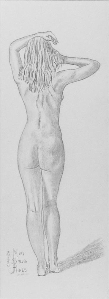 """Nude Study 1-Hand Drawn"" original fine art by Mary Sylvia Hines"