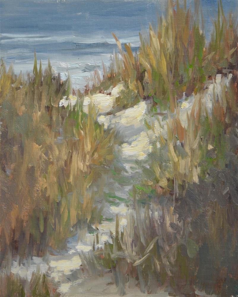"""beach path"" original fine art by Dottie  T  Leatherwood"