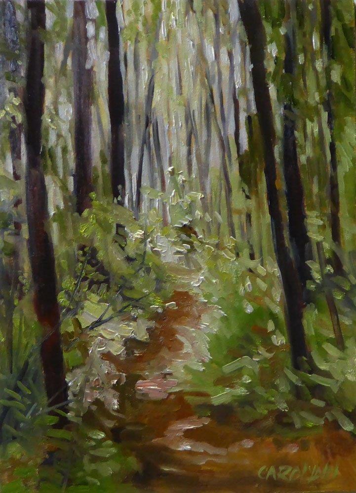 """""""Finding My Way"""" original fine art by Carolynn Doan"""