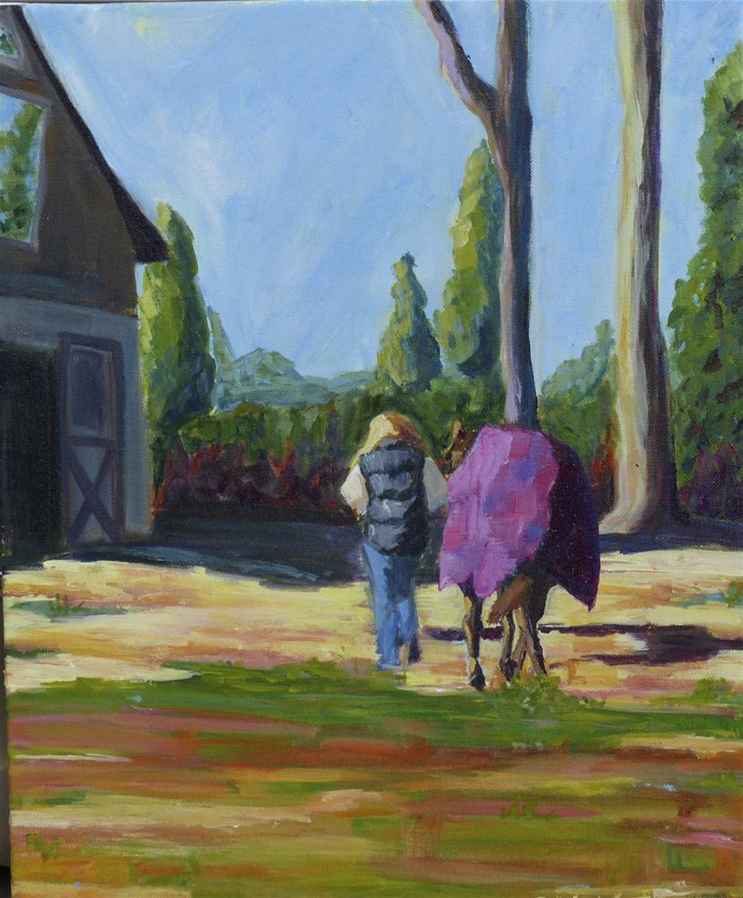 """Back to the Barn"" original fine art by Beth Carrington Brown"