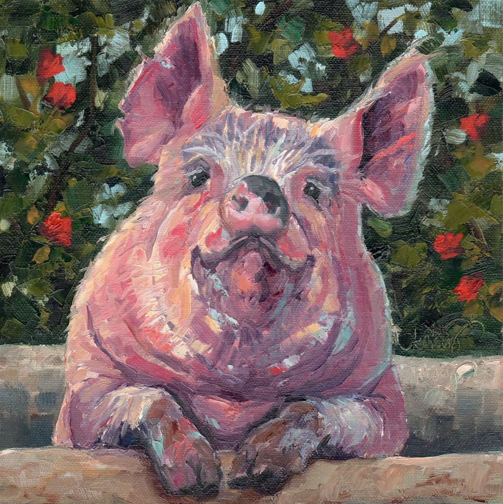 """ROSIE"" original fine art by Kristy Tracy"