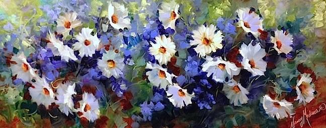 """Everything's Coming Up Daisies by Nancy Medina"" original fine art by Nancy Medina"