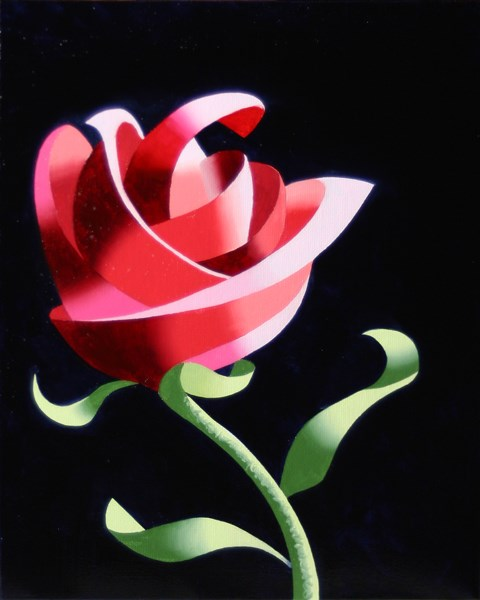 """Mark Webster - Abstract Geometric Rose Still Life Painting"" original fine art by Mark Webster"