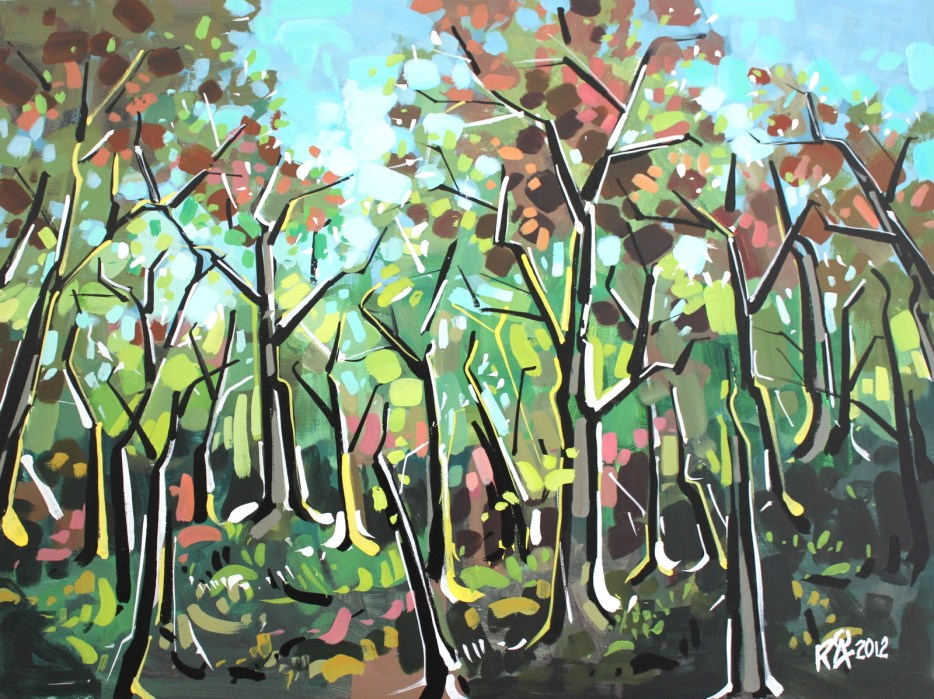 """""""In the forest 6"""" original fine art by Roger Akesson"""