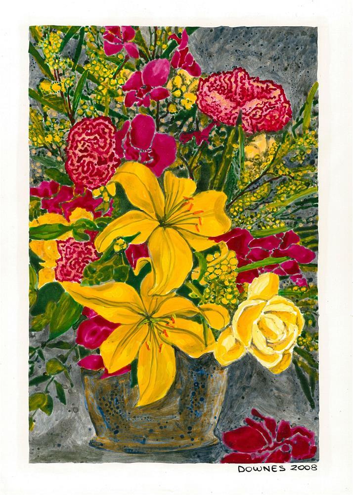 """201 CLASSIC FLOWERS 3"" original fine art by Trevor Downes"