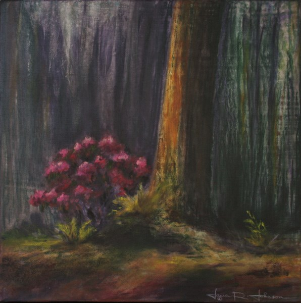 """Forest Rhododendron"" original fine art by Jana Johnson"