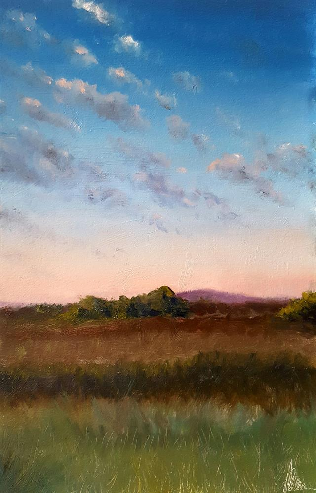 """South mountain study"" original fine art by Dustin Klassen"