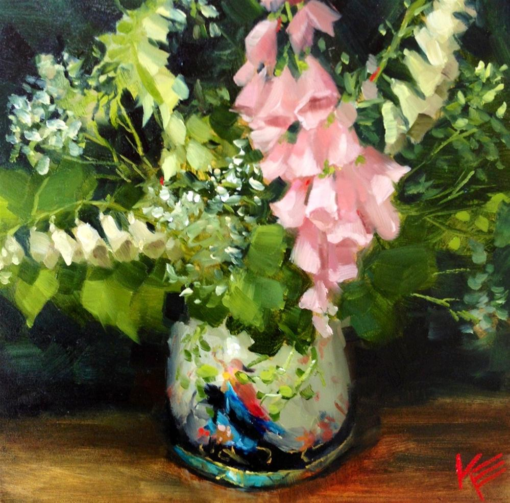 """Fox Gloves"" original fine art by Krista Eaton"