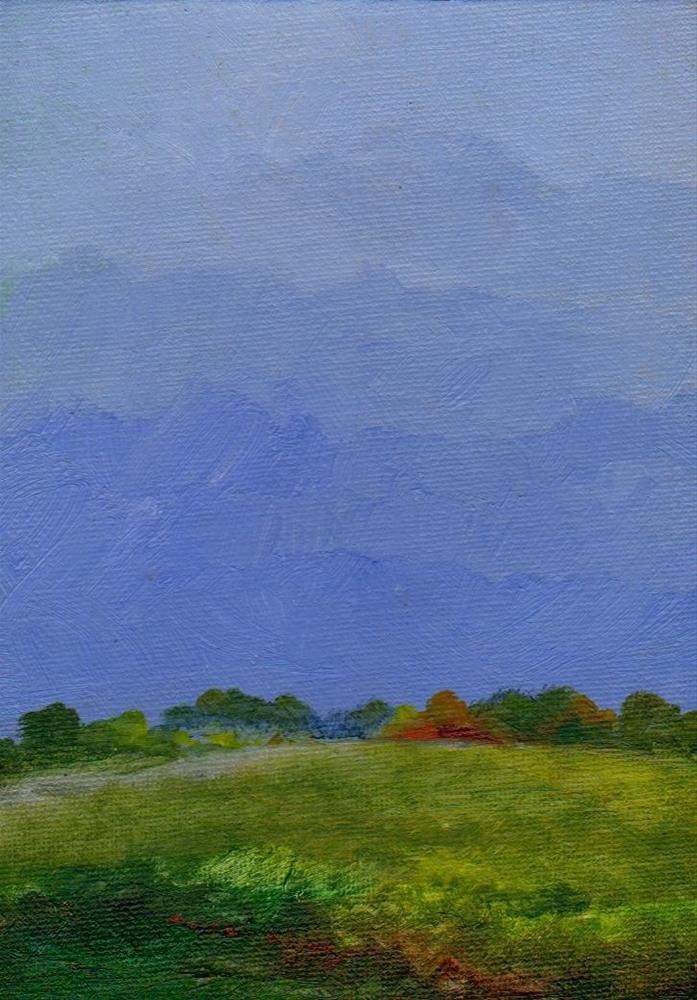 """""""rain"""" original fine art by Mark DeBak"""